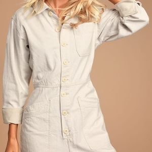 Gia Ivory Long Sleeve Coverall Jumpsuit